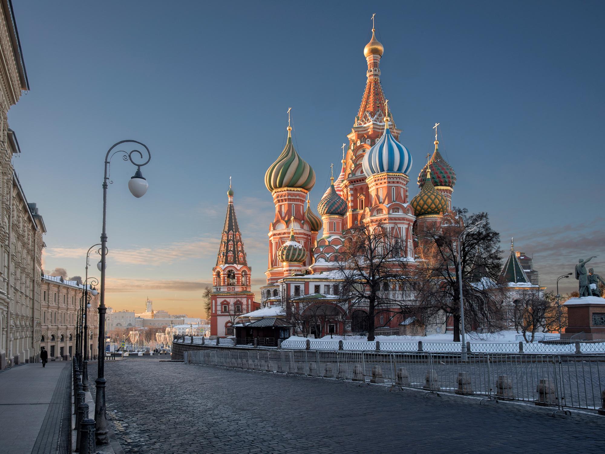 Rode Plein, Sint Basilius kathedraal en het huis van de Romanovs